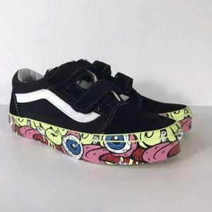 Vans Old Skool V Brain Wall Black Sneakers
